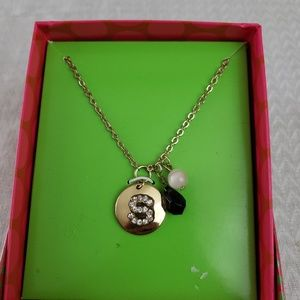 Initial S gift box necklace chain 18 inches